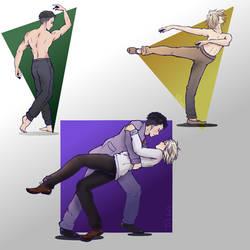 Otabek and Yuri swing Dance by TwigsArtBlog