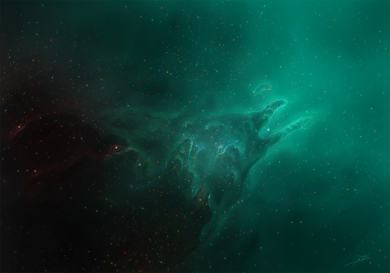 Aurora nebula by NikolaDun