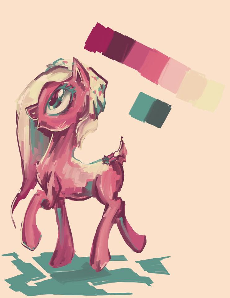 Shitty Pony Painting by Explonova