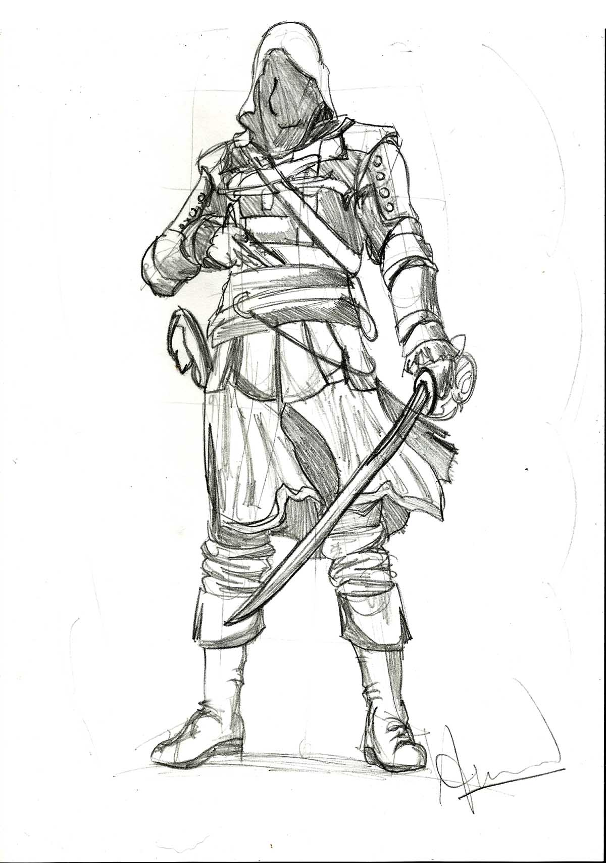 Assassins Creed 4 Edward Kenway Sketch By Aniket210696 On Deviantart