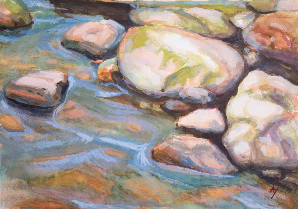 Spring stones by h-i-l-e-x