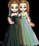 Rainbow Twins by Breebles