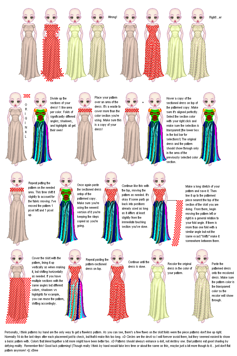 Simple Pattern Tutorial by Breebles