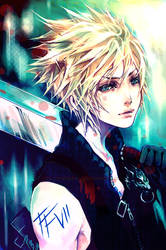 Cloud Strife : Turquoise by ProdigyBombay