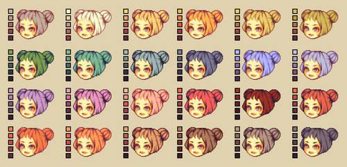 Color palettes: Hair