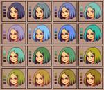 Color palettes: Hair 2