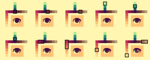 Eyes shading (Step by step)