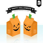 Halloween Party Printable - Favor Box - Pumpkin