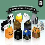 Halloween Party Printable - Milk Carton Favor Box