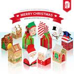 Christmas Party Printable - Milk Carton Favor Box