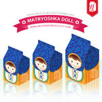 Matryoshka Nesting Doll Favor Gift Box Printables