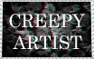 Creepy Artist Stamp by Ommetaphillia