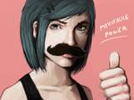 Moustache girl by FonteArt