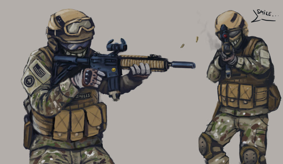 soldier concept: Smiles by FonteArt