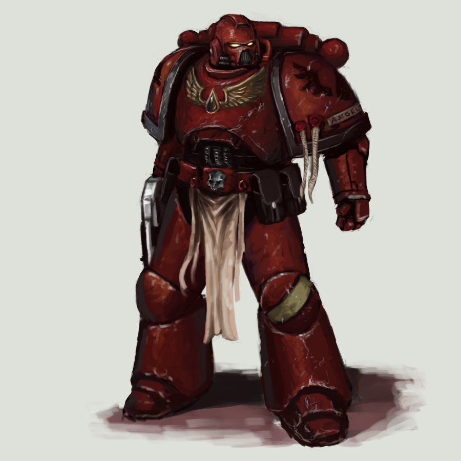[W40K] Collection d'images : Space Marines Blood_angel_sketch_by_fonteart-d5dl11g