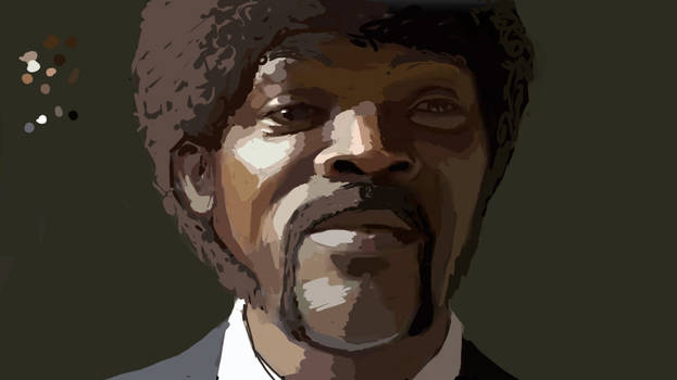 Rough Color Study: Jules Winnfield by FonteArt