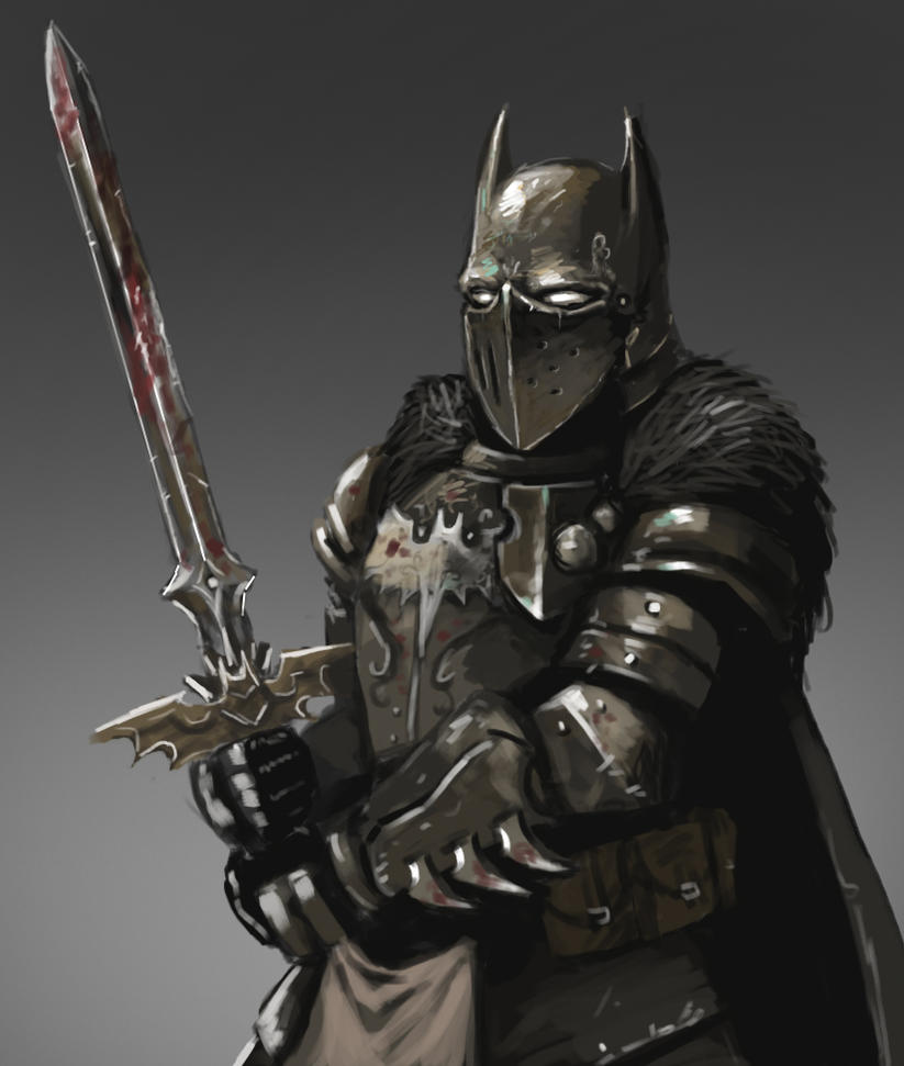fantasy redesigned Batman sketch: the dark knight by FonteArt