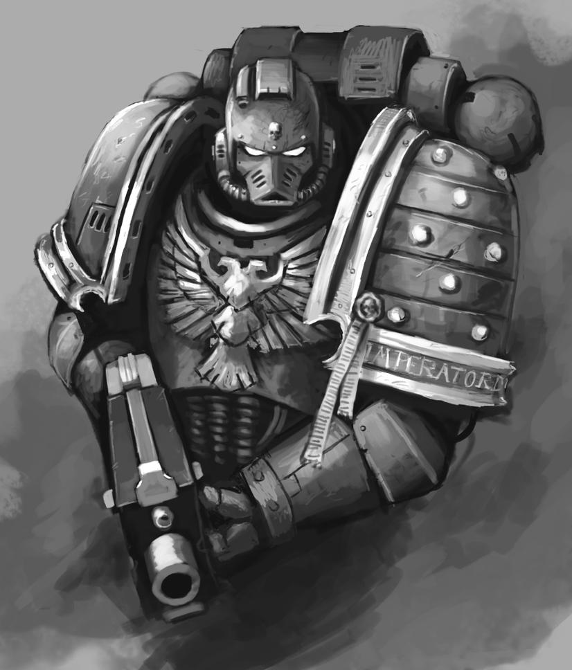 [W40K] Collection d'images : Space Marines - Page 2 Adeptus_astartes_by_fonteart-d5ntugd