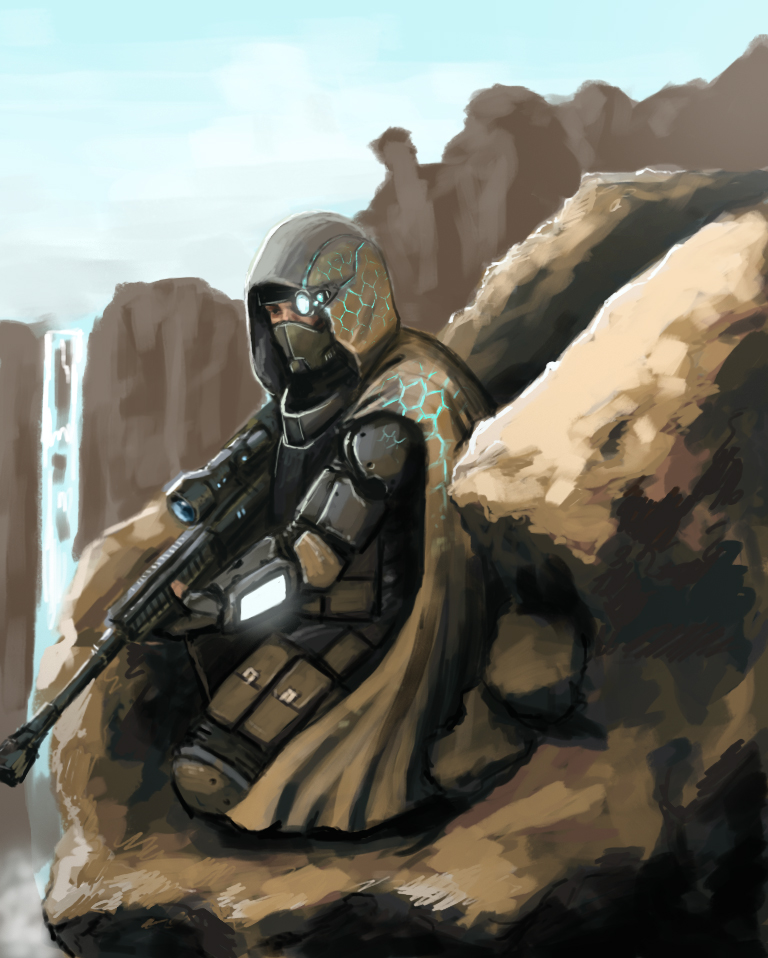 Speed painting - Future Sniper by FonteArt