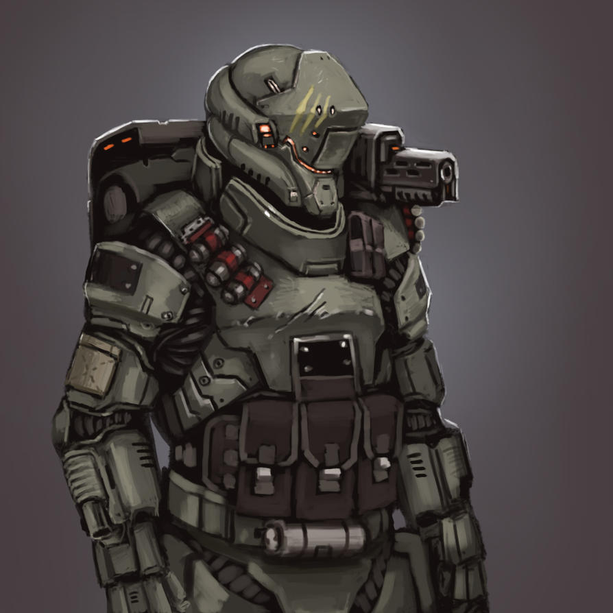 Future soldier power armor by fonteart on deviantart - Fear of small space pict ...