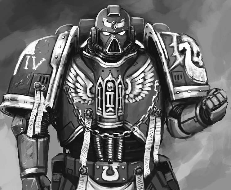 another Space Marine by FonteArt