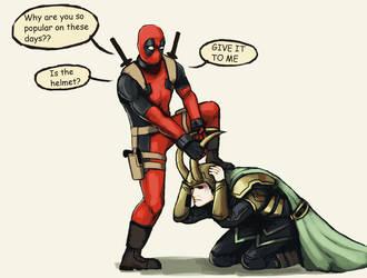 Loki and Deadpool by FonteArt