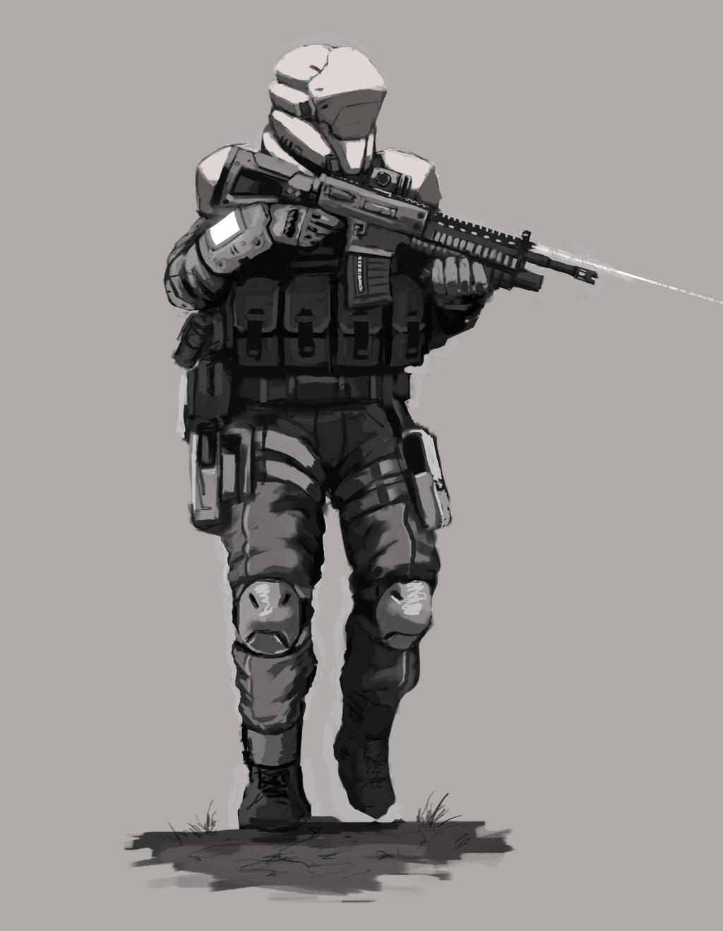 Future Assault Trooper concept art by FonteArt