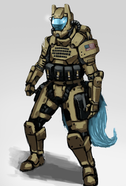 Power Armor Zer... Future Battle Helmet