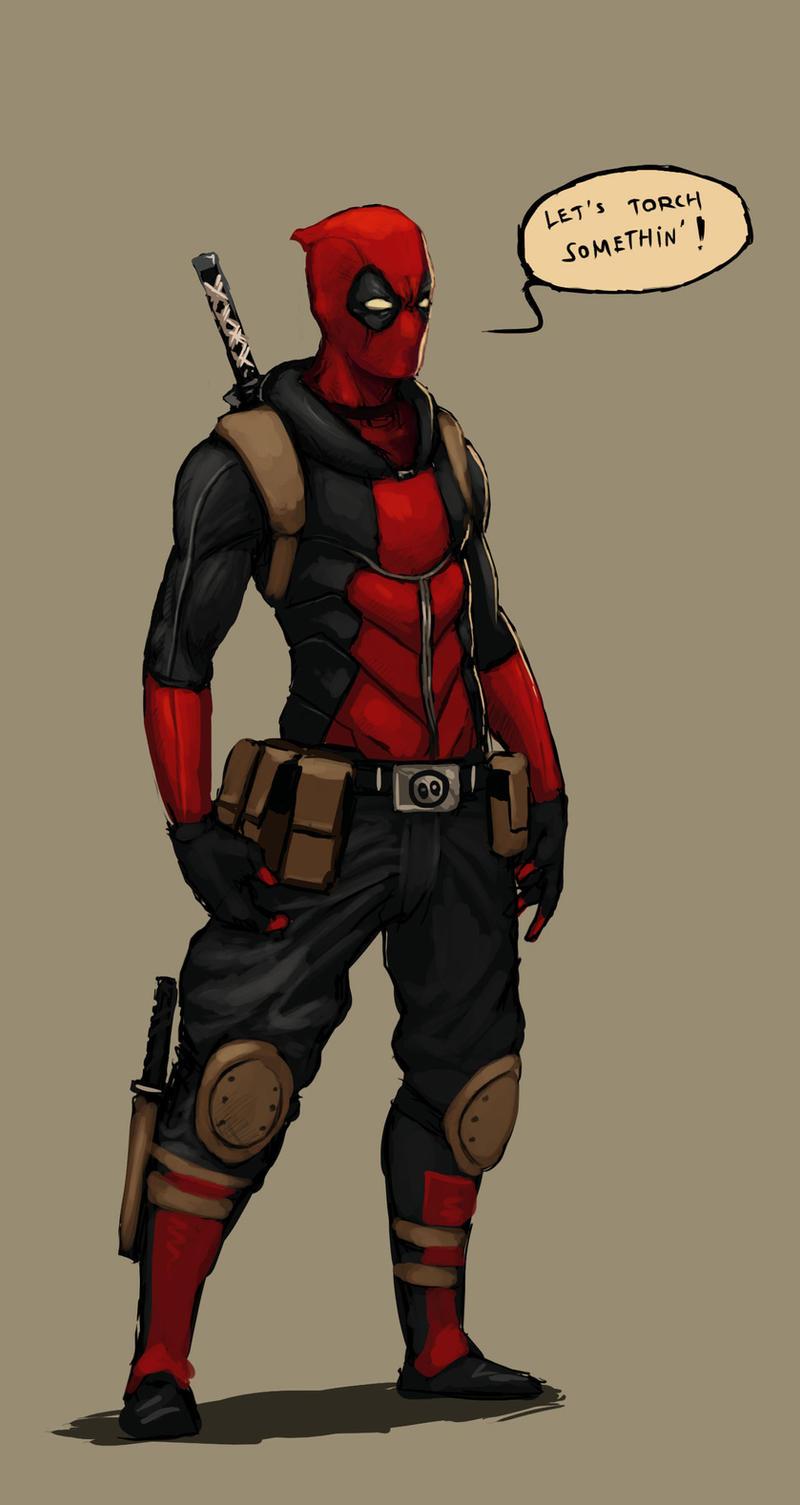 Deadpool redesign sketch by FonteArt
