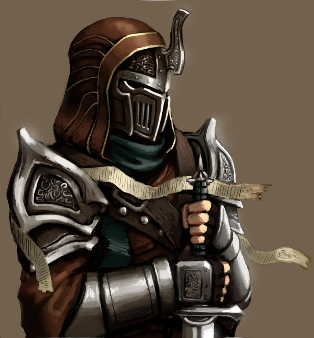 Hooded Female Warrior ...