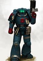 Crimson Fist Space Marine by FonteArt