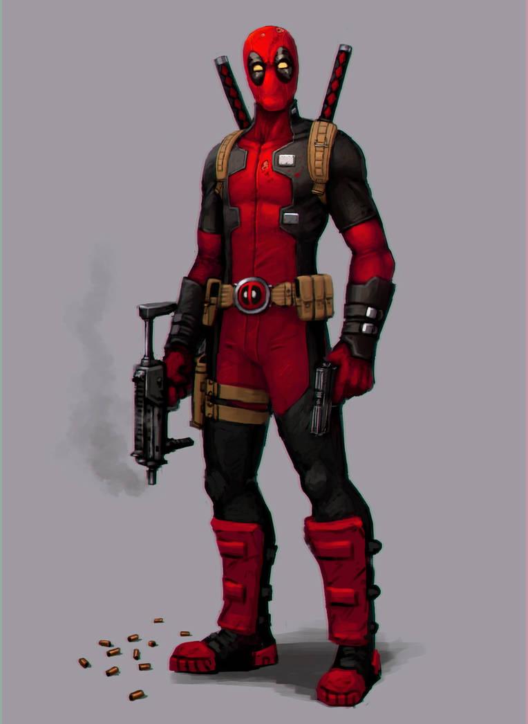 Strike a pose, Deadpool! by FonteArt