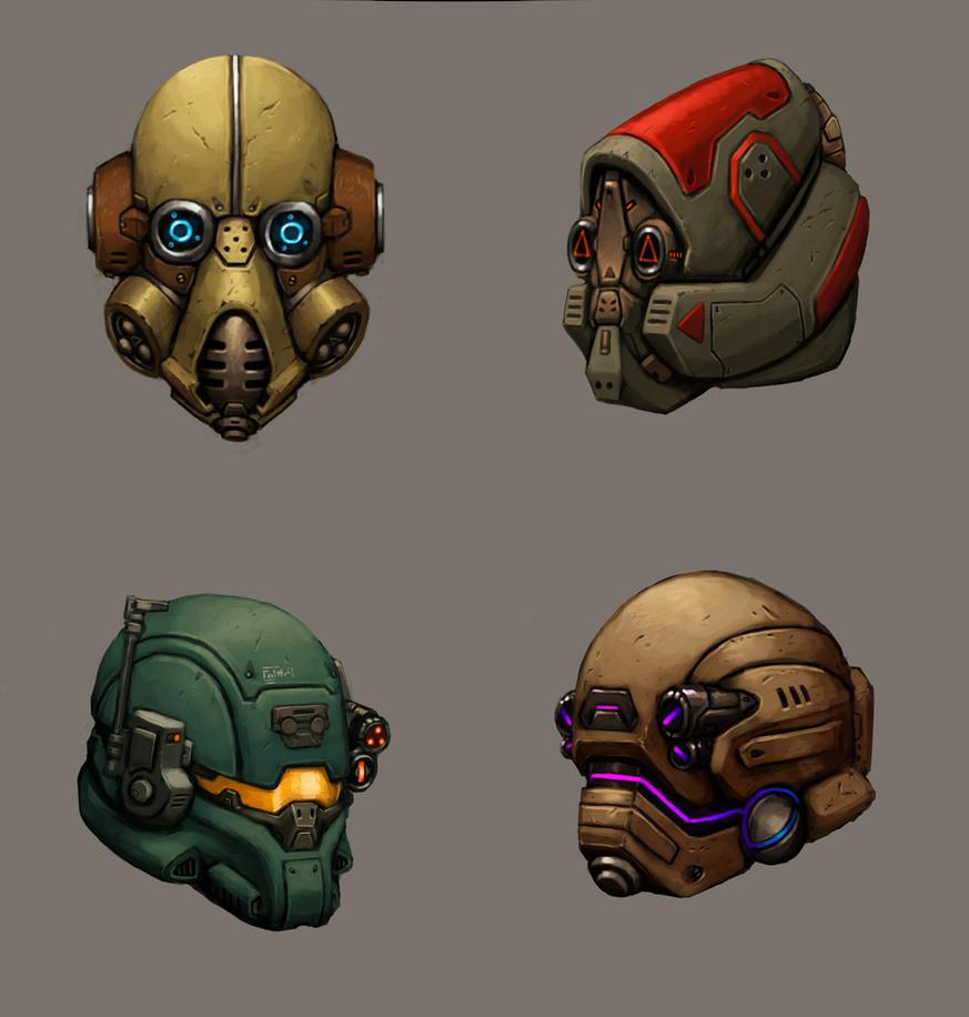 Helmets by FonteArt