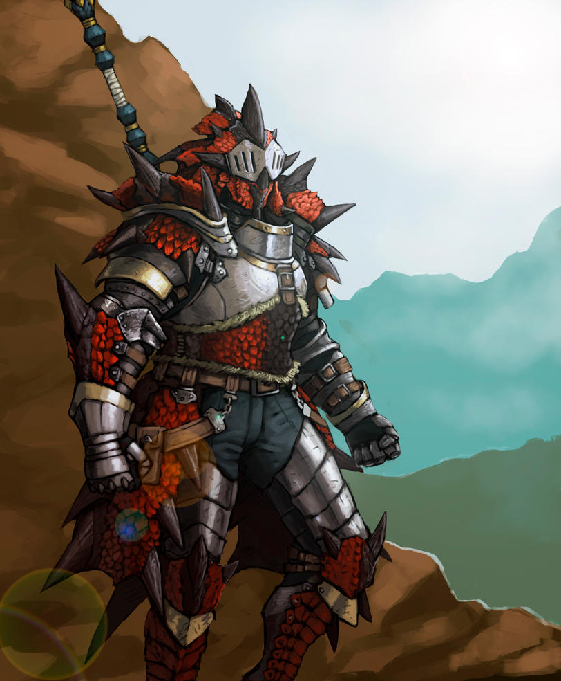 Rathalos Hunter by FonteArt
