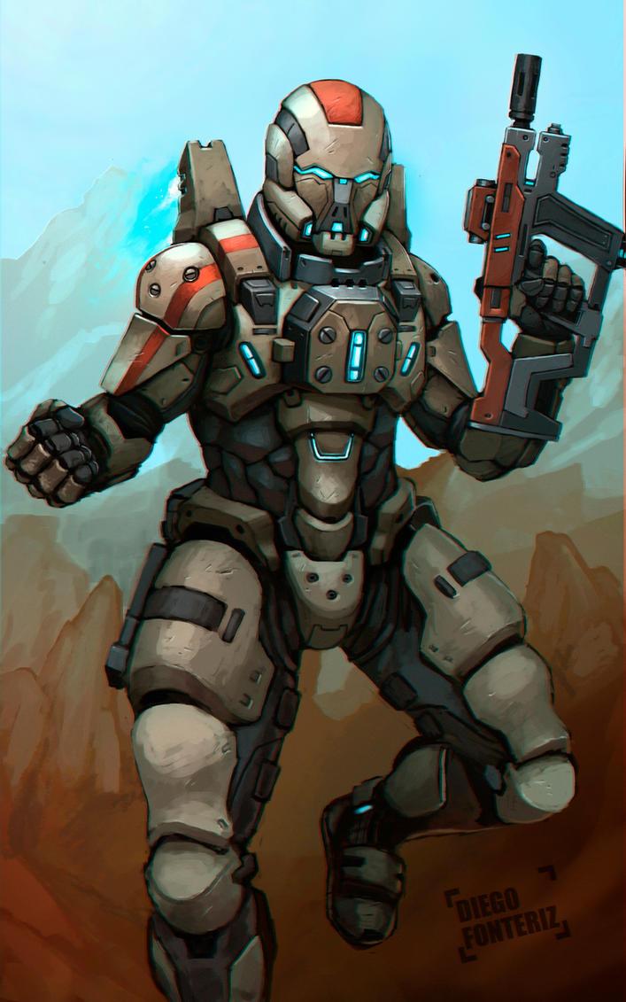 Sci-Fi armor by FonteArt