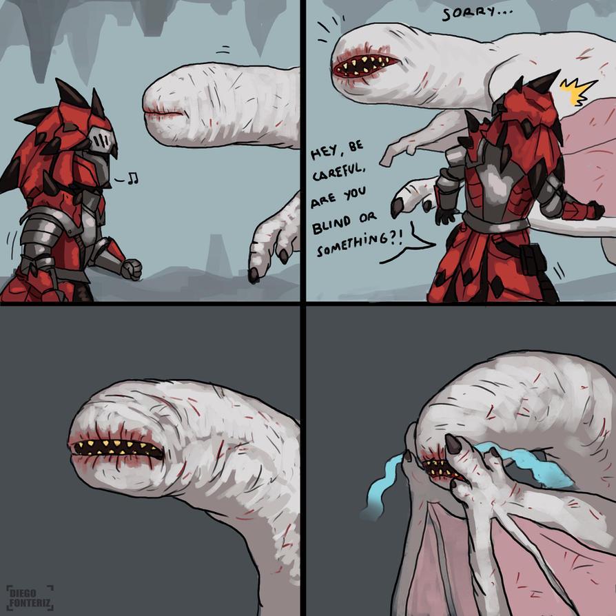 MH comic: Poor Khezu by FonteArt
