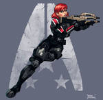 Commander shepard, alliance pin-up