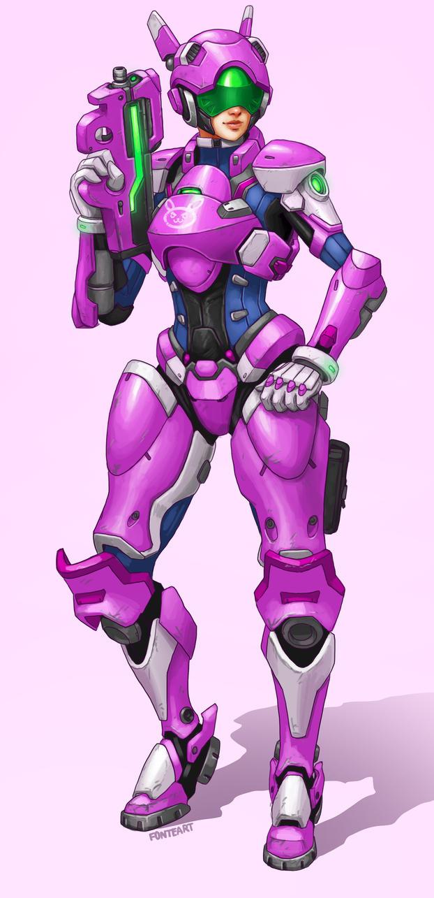 D.va Full Meka Armor by FonteArt