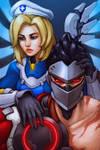 Overwatch Uprising - Mercy and Genji