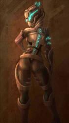 Self Portrait Sci Fi by LadyBloodFlower