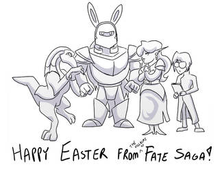 Happy Easter from Fate Saga! by neo-dragon