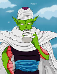 DBZ Piccolo - Greatest Alien Dad Mug by neo-dragon