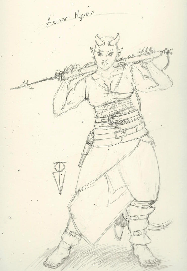 Tiefling Monk by RosewoodWonder
