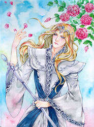 Curran watercolor comm by Archie-The-RedCat