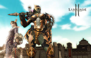 Lineage 2 - Travelers in Town by Edaine