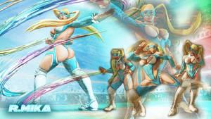 Rainbow Mika SFV Wallpaper by Edaine