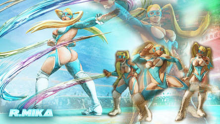 Rainbow Mika SFV Wallpaper