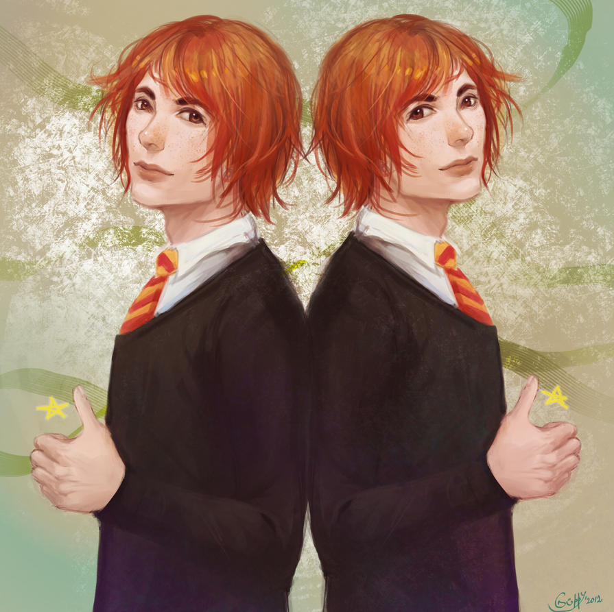 Fred and George Weasley by GuppyBlue