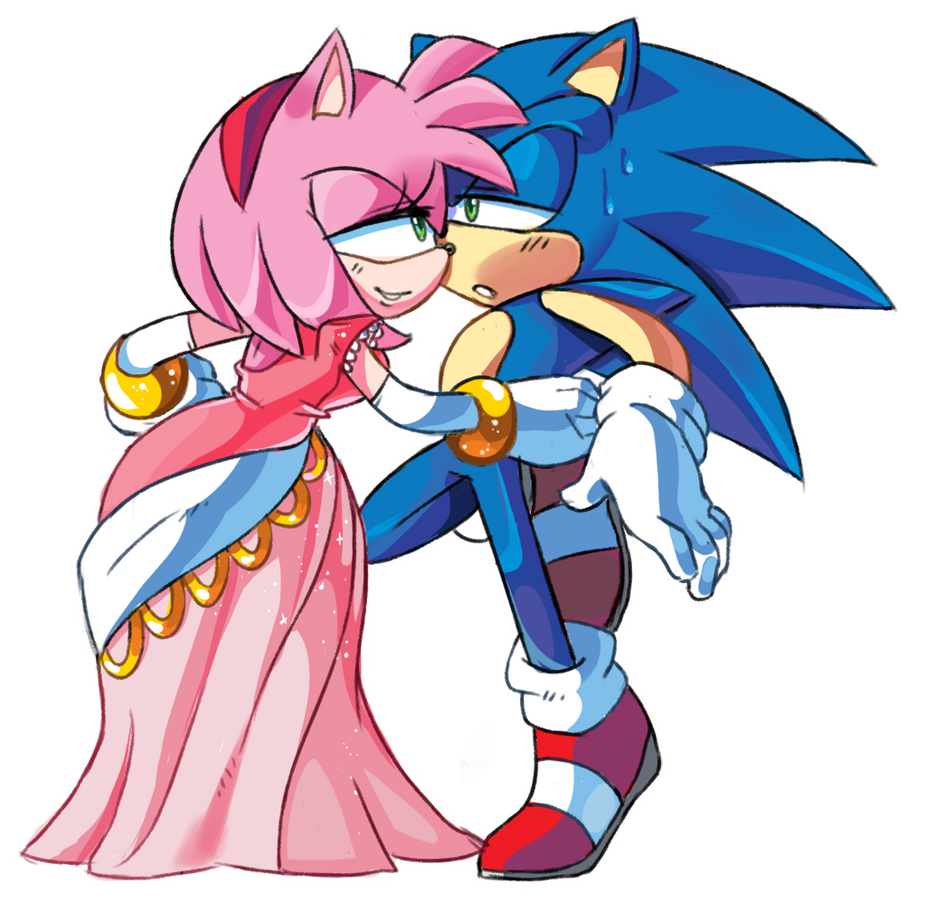 Amy rose party dress by AmazingNascar221 on DeviantArt