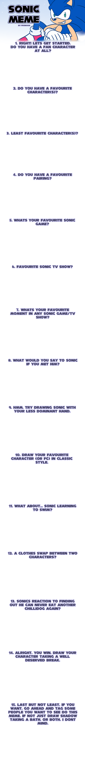 Blank Sonic Meme by ProBOOM